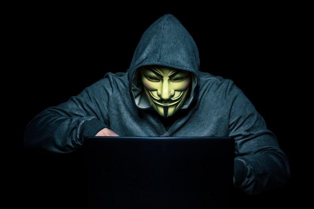 Hacker at work Premium Photo