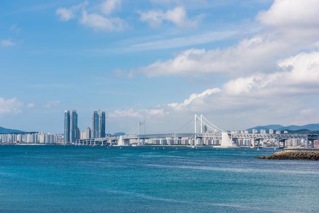 Haeundae beach in busan city, south korea Premium Photo