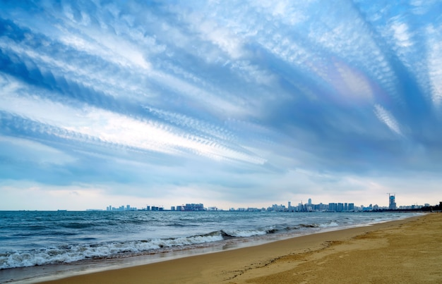 Hainan haikou bay architectural landscape Premium Photo