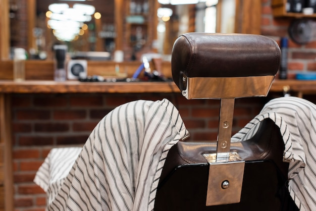 Hairdressing chair in vintage barber shop Free Photo