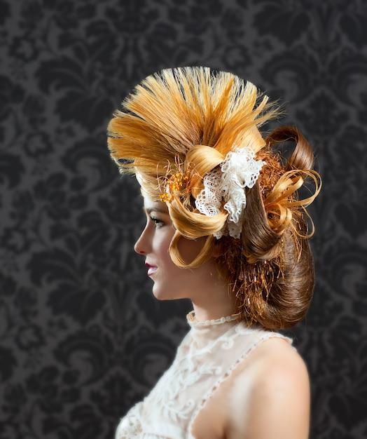 Hairdressing and makeup fashion woman Premium Photo