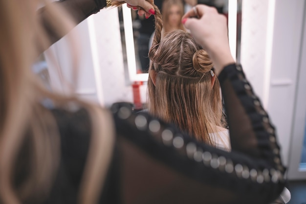 Hairstylist Preparing Client For Hairstyle Photo Free Download