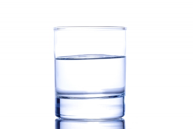 Half a glass of water Premium Photo