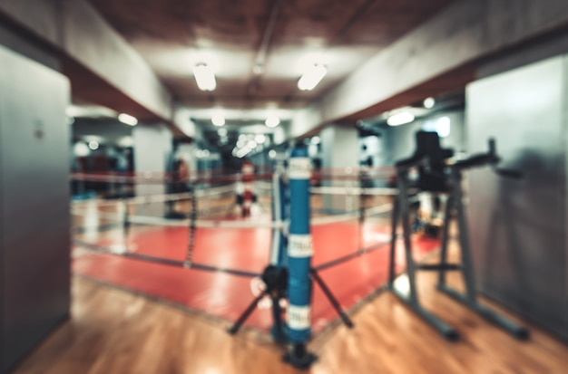 Hall for boxing in gym Premium Photo