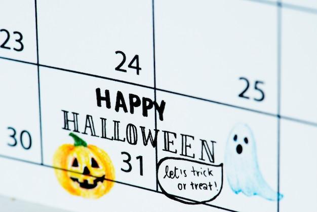 Halloween calendar reminder Free Photo