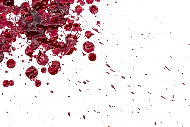 Free Photo Halloween Concept Blood Splatter On White Background The red bloody splatter background can be used in all kind of horror manipulations, perfect for halloween. halloween concept blood splatter
