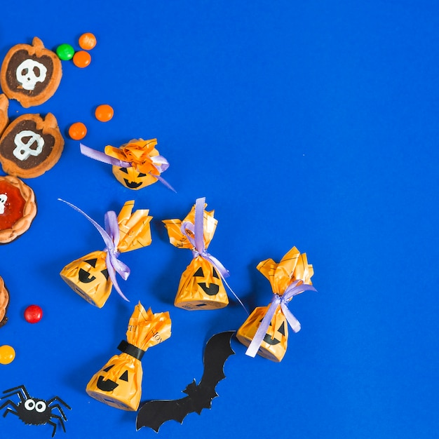Halloween creative candies and biscuits Free Photo