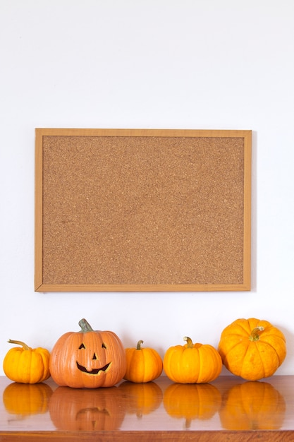 Halloween empty photo frame Premium Photo