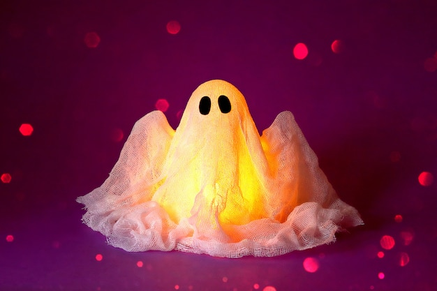 Halloween ghost of starch and gauze Premium Photo