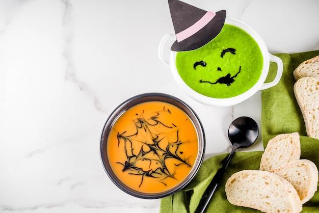 Halloween holiday soups Premium Photo