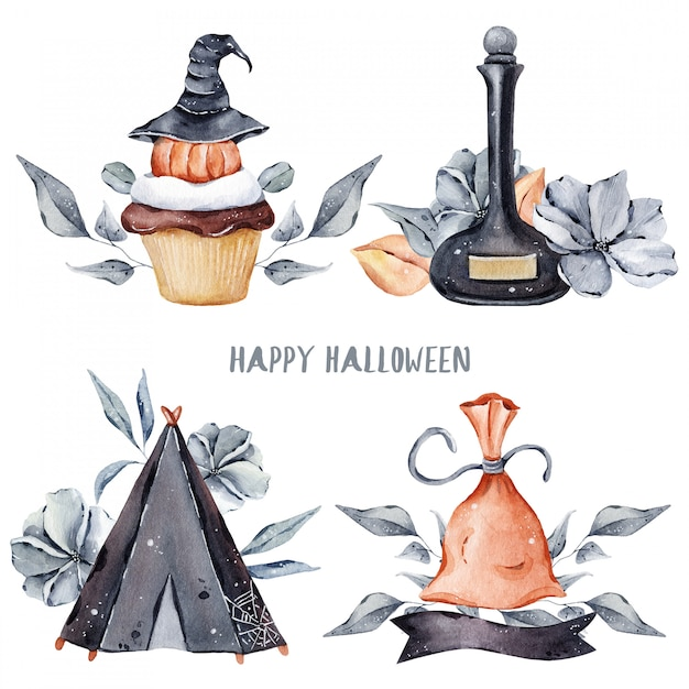 Halloween illustration Premium Photo