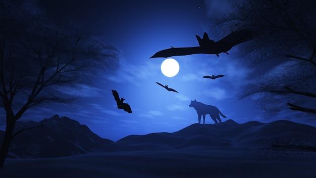 The halloween night Free Photo