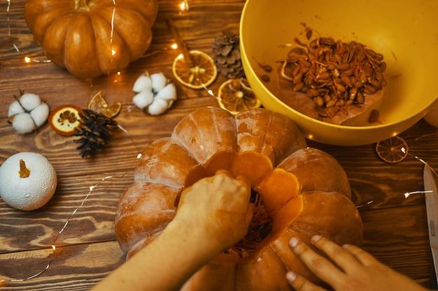 Halloween pumpkin. Premium Photo