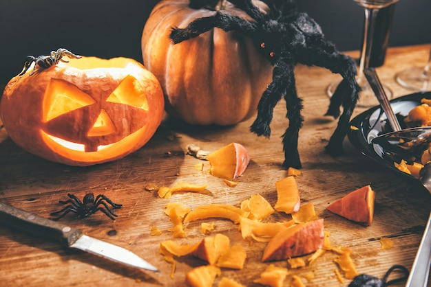 Halloween pumpkins Premium Photo