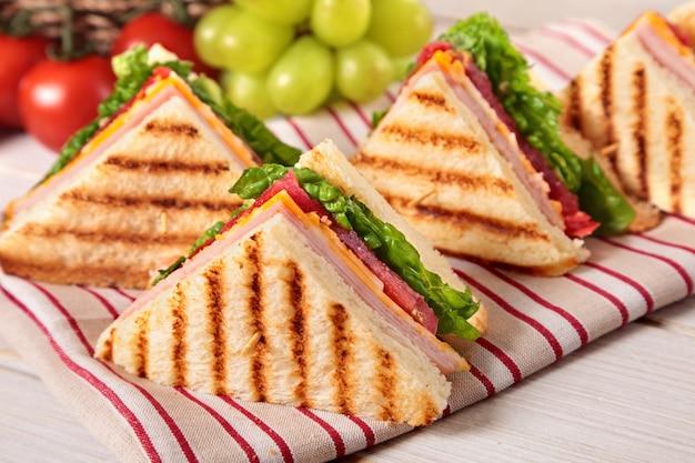 Ham and cheese toast Free Photo