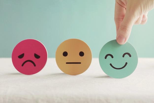 szomorú, semmilyen és boldog arc