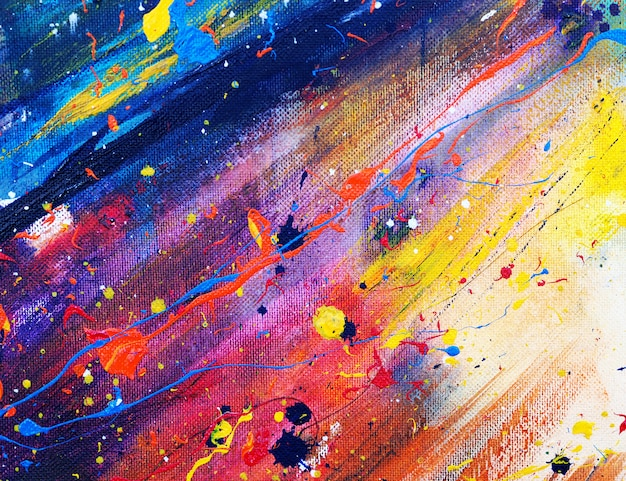 Hand draw abstract colorful watercolor painting Premium Photo