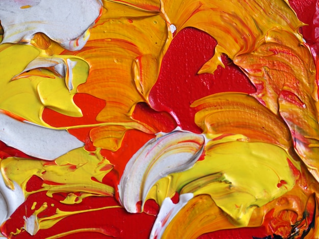 Hand draw colorful oil paint abstract background and texture. Premium Photo