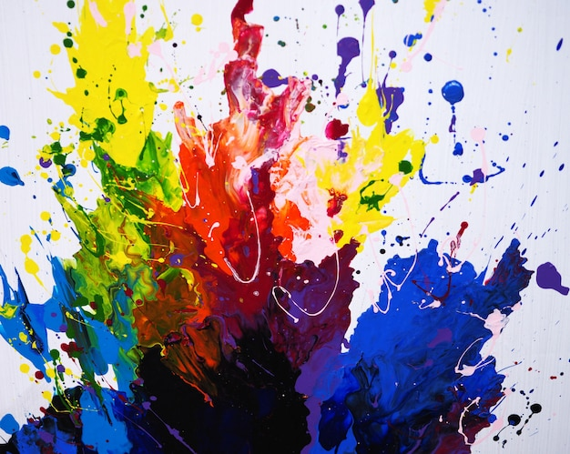 Hand draw colorful oil painting texture abstract background Premium Photo