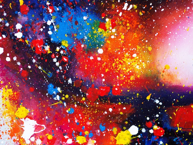 Hand draw colorful watercolor abstract background and textured Premium Photo