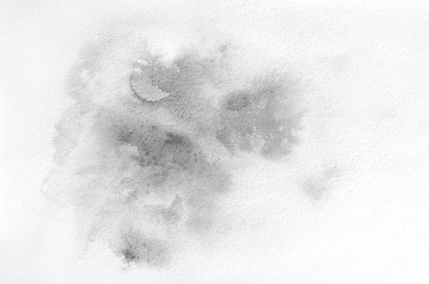 Hand drawn black and white watercolor shape Premium Photo
