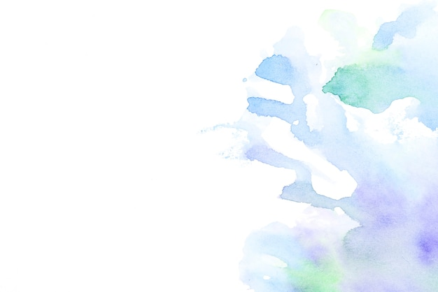 Hand drawn water color splash on white backdrop Free Photo