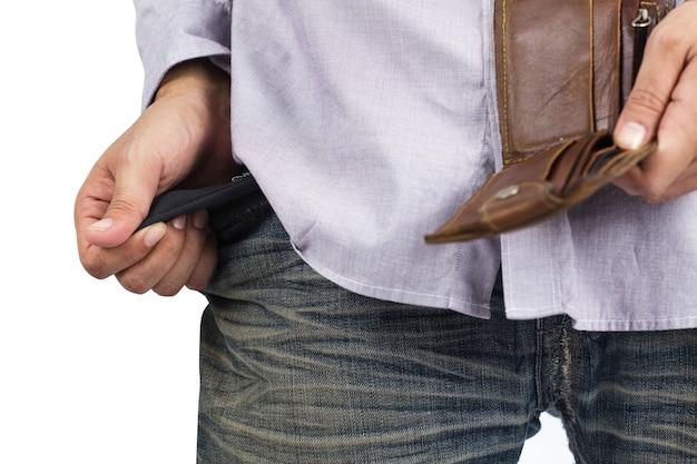 Hand and empty pocket Premium Photo