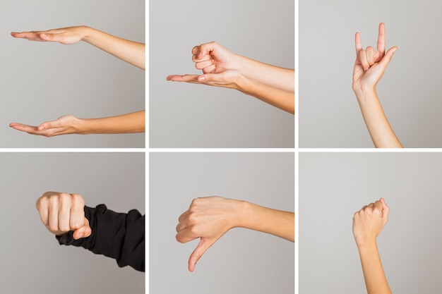 Hand gesture collection Free Photo