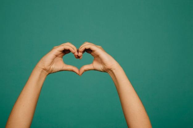 Hand gesture heart Premium Photo
