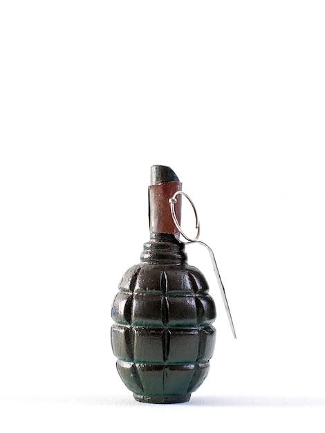 茶色のレバーが付いている手榴弾強力な大量破壊兵器 無料写真