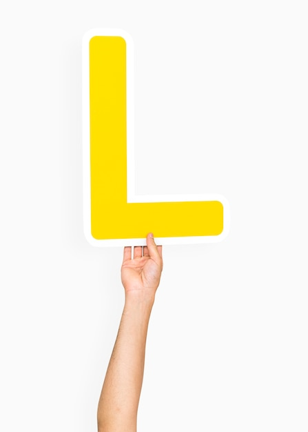 Free Photo Hand Holding The Letter L