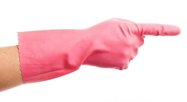 ピンクの国内グローブショーの手 無料写真