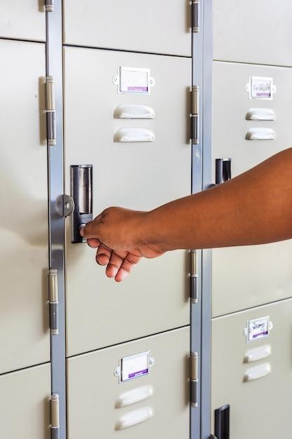 Hand open locker Premium Photo