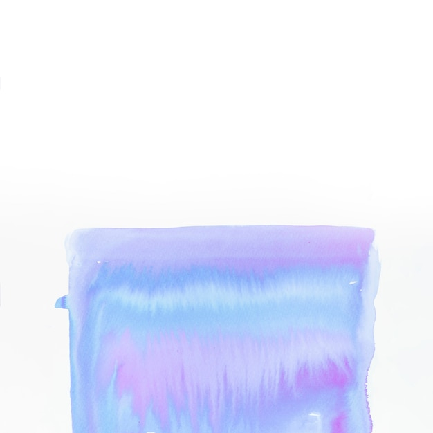 Hand painted acrylic shape isolated on white backdrop Free Photo