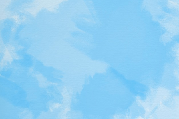 Ручная роспись акварельный фон с небом и облаками Бесплатные Фотографии