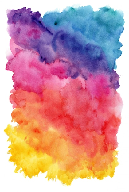 Hand painted watercolor background Premium Photo