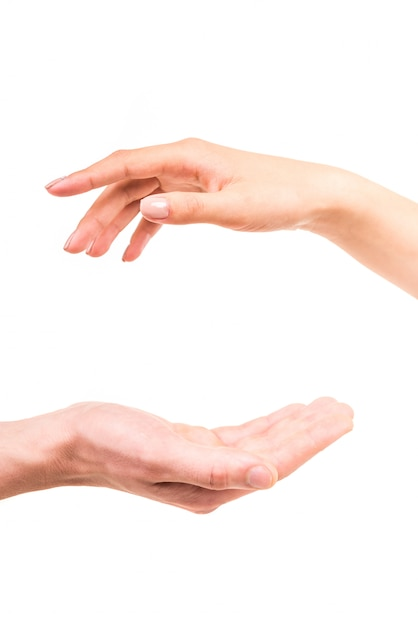 Hand reaching out to help someone Premium Photo