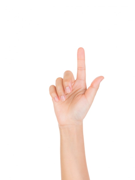 Hand with raised index finger Free Photo