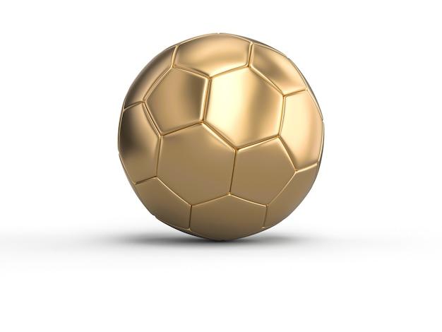 Handball gold ball on white Premium Photo