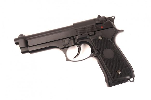 Пистолет м9, изолированный на белом Premium Фотографии