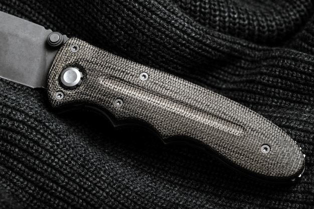 The handle of the knife Premium Photo