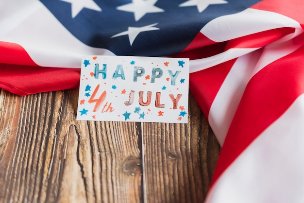 Handmade card for independence day Free Photo