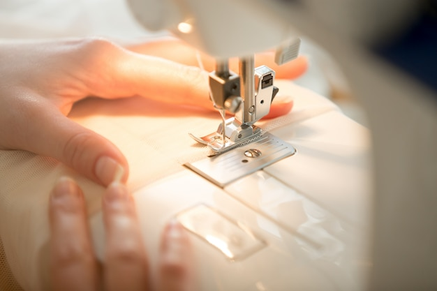 Hands At Sewing Machine Photo Free Download Interesting Hands Free Sewing Machine