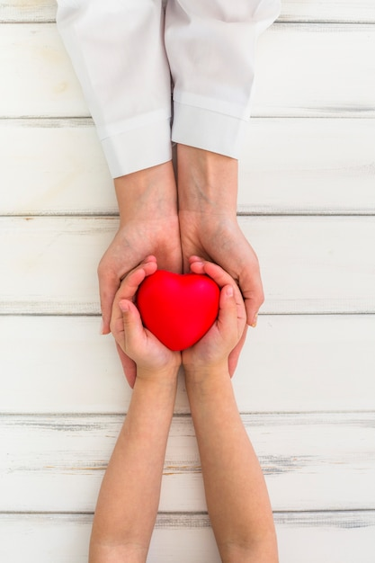 Hands holding heart Free Photo