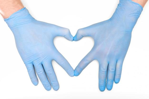 Руки в медицине латексные хирургические перчатки Premium Фотографии