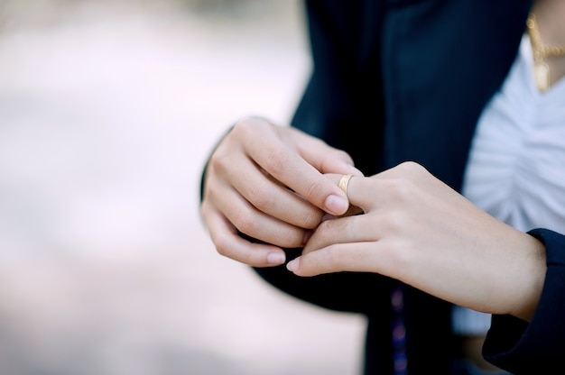 Hands and rings of young women Premium Photo