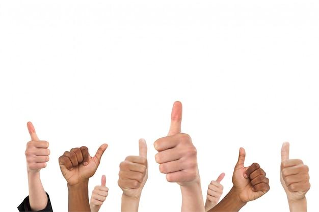 긍정적 인 제스처를 보여주는 손 무료 사진