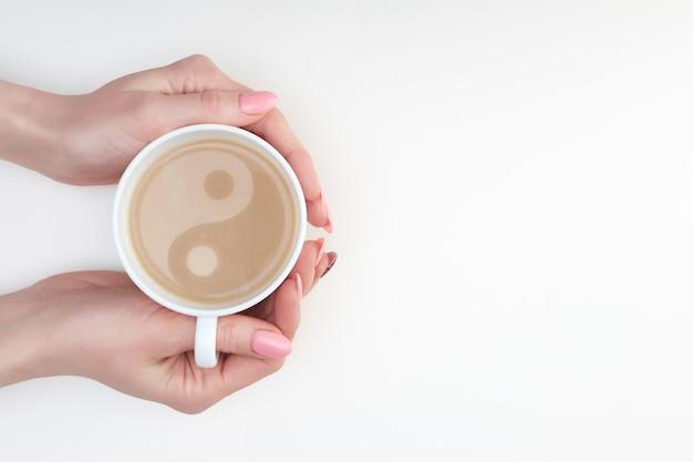 Mug Yin Yang Kittens Latte White
