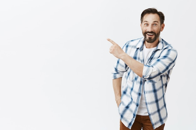 Handsome bearded mature man posing Free Photo