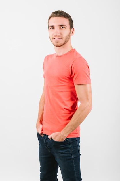Handsome blond modern man with bristle Free Photo